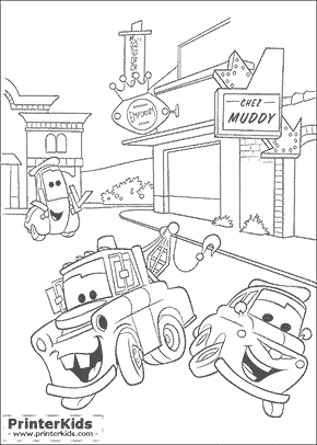 Cars coloring page