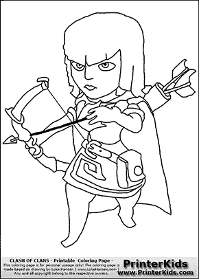 Clash Of Clans - Archer - Coloring Page