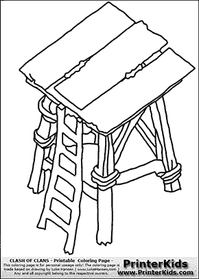 Clash Of Clans - Archer Tower - Coloring Page
