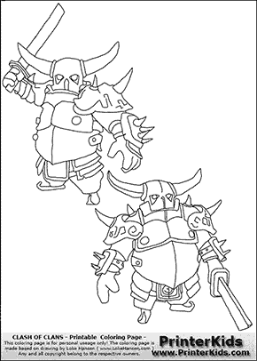 Clash Of Clans - P.E.K.K.A #3 - Coloring Page