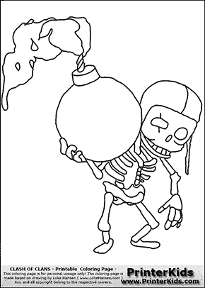 Clash Of Clans - Wallbreaker - Coloring Page