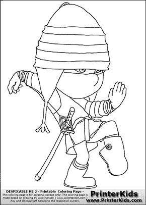 Despicable Me 2 - Edith #1 Ninja - Coloring Page