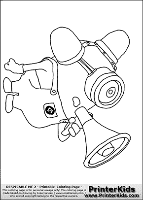 Despicable Me 2 - Minion #23 Bee Boo FIRE- Coloring Page