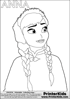 DISNEY FROZEN - ANNA - Coloring Page 1