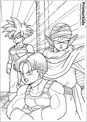 Dragon Ballz coloring page