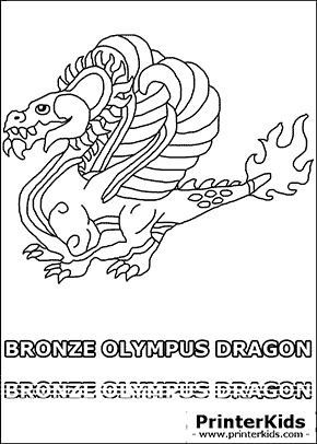 Dragonvale - Bronze Olympus Dragon - Adult - Coloring Page