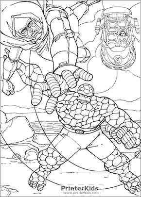 Fantastic Four Coloring Pages