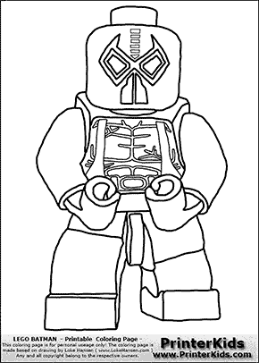 Lego Batman - Bane - Coloring Page