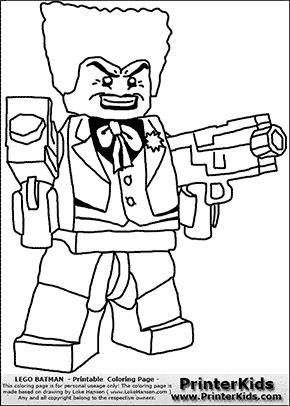 Lego Batman - The Joker Double Machine Gun - Coloring Page