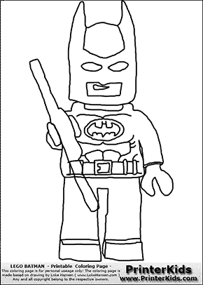 Lego Batman - Standing - Coloring Page