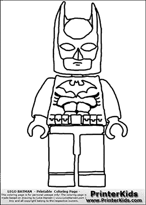 Lego Batman - Front View - Coloring Page