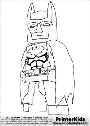 Lego Batman - Lego Batman and Robin Xbox game - Coloring Page