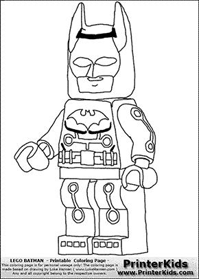 Lego Batman - Electro - Coloring Page