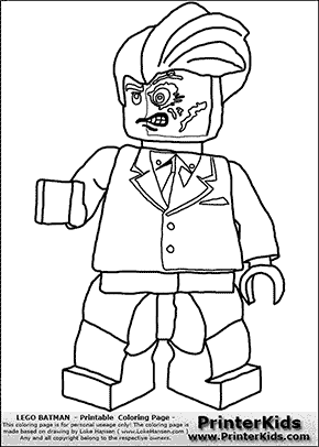 Lego Batman - Two Face - Coloring Page