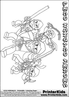 Lego NINJAGO - Hero Group - Coloring Page