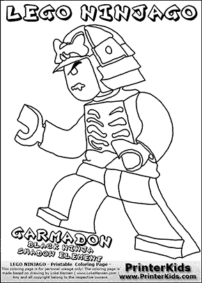 Lego NINJAGO - LORD GARMADON - Coloring Page