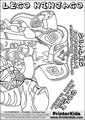Lego NINJAGO - COLE and SCALES - Coloring Page