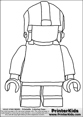 Lego Star Wars - Blank - Young Anakin Skywalker - Pilot with Helmet - Coloring Page