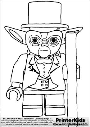 Lego Star Wars - Tuxedo Yoda - Coloring Page