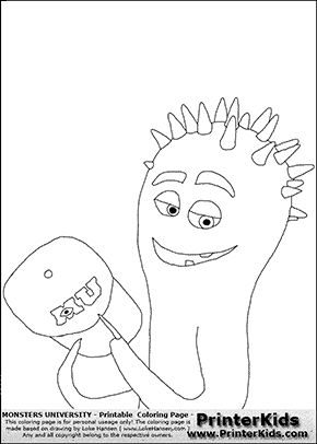Monsters University - Spiky Squid #3 - Coloring Page