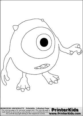 Monsters University - Young Mike Reaching Out For A Friend - Coloring Page