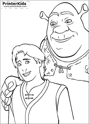 Shrek the theird Coloring Pages