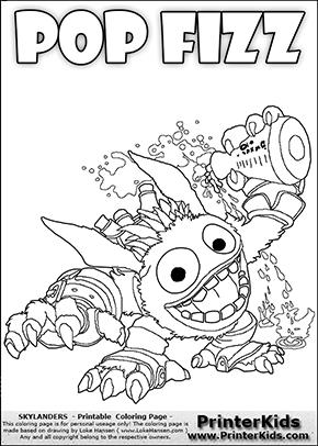 Skylanders Swap Force - SUPER GULP POP FIZZ DETAILED - Coloring Page 1