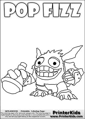 Skylanders Swap Force - SUPER GULP POP FIZZ Ready To Drink - Coloring Page 1