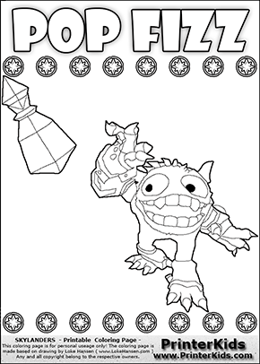 Skylanders Swap Force - SUPER GULP POP FIZZ Magic Potion Away - Coloring Page 2
