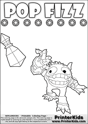 Skylanders Swap Force - SUPER GULP POP FIZZ - Pop This! - Coloring Page 2