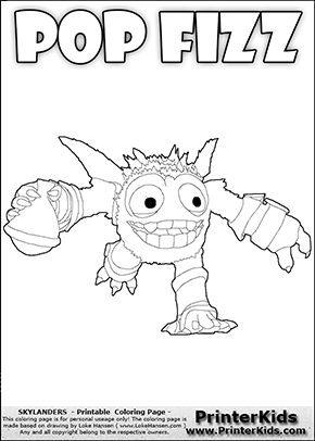 Skylanders Swap Force - SUPER GULP POP FIZZ Running - Coloring Page 1