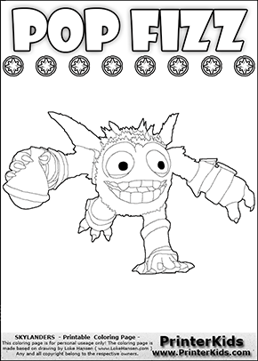 Skylanders Swap Force - SUPER GULP POP FIZZ Potion Run - Coloring Page 2
