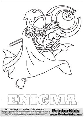 Skylanders Trap Team - ENIGMA - Coloring Page 1