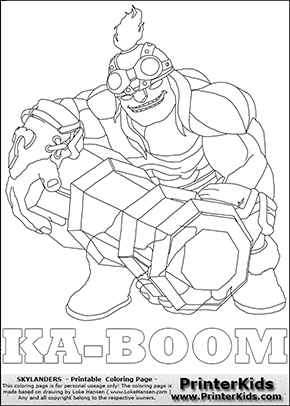 Skylanders Trap Team - KA-BOOM - Coloring Page 1