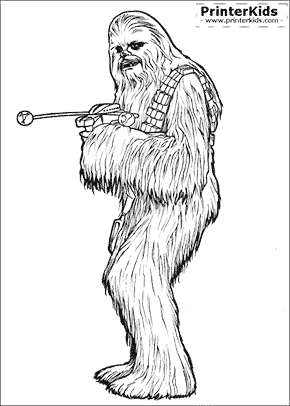 Star Wars - Chewbacca - Coloring page