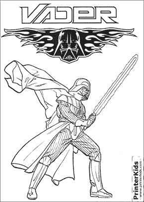 Star Wars - Darth Vader - Coloring page