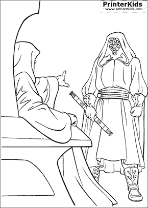 Star Wars - Darth Sidious Commands - Coloring page
