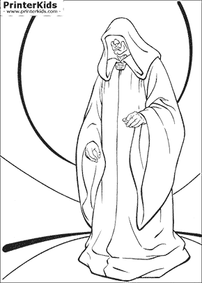 Star Wars - The Evil Emperor - Coloring page