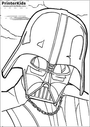 Star Wars - Darth Vaders Head - coloring page