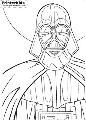 Star Wars - Darth Vader Closeup - Coloring page