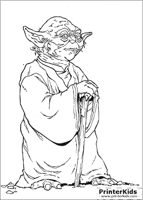 Star Wars - Yoda The Wise - coloring page
