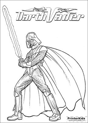 Star Wars - Mighty Darth Vader - Coloring page