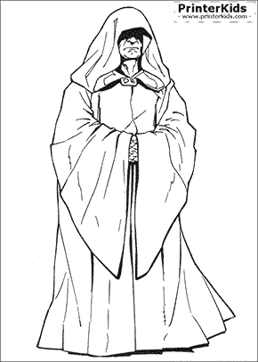 Star Wars - Emperor Palpatime - Coloring page
