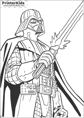 Star Wars - Evil Vader - Coloring page