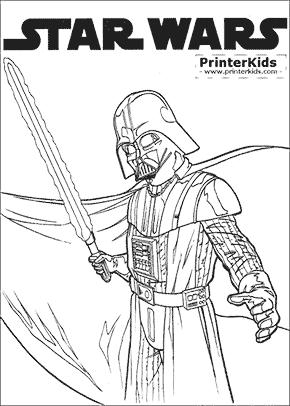 Star Wars - Darth Vader Prime - Coloring page
