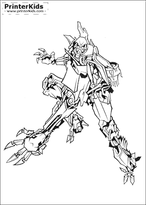 Transformers coloring page