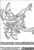 Bakugan - Gundalian invaders - Chance Dragonoid - Coloring Page