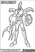 Bakugan - Gundalian invaders - Splight - Coloring Page