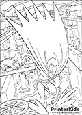 This Batman colouring sheet show The Batman punching into the water in a sewer-like area filled with rats and water. The water is splashing away after Batmans powerful punch.