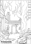 This amazing Batman coloring page to print show a quiet night scene in Gotham city with an easy to spot Batman character for coloring - but that is not all!! Take a closer look at this Amazing Dc comics batman colouring sheet, and see how many Batman characters you can spot sneaking and lurking around in this full moon scene!